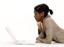 膝上型计算机用户 库存图片