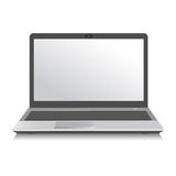 膝上型计算机白色技术向量计算机 向量例证