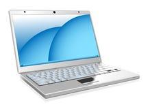 膝上型计算机白色 库存照片