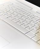 膝上型计算机白色 免版税库存照片