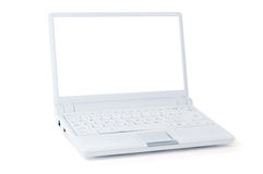 膝上型计算机白色 免版税库存图片