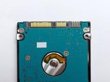 从膝上型计算机的佐田硬盘 免版税库存照片