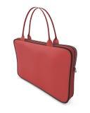膝上型计算机的红色袋子 皇族释放例证
