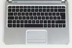 膝上型计算机的键盘 库存图片