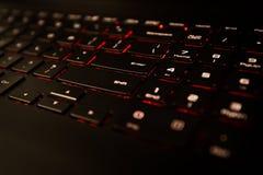 黑膝上型计算机笔记本计算机键盘 免版税图库摄影