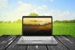 膝上型计算机笔记本 免版税库存照片