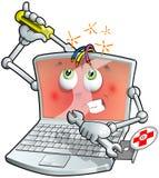 膝上型计算机维修服务 库存例证