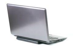 膝上型计算机背面图 免版税库存照片