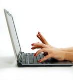 膝上型计算机键入 免版税图库摄影