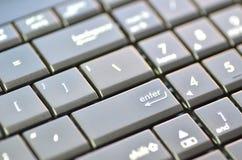 膝上型计算机键盘特写镜头  库存照片