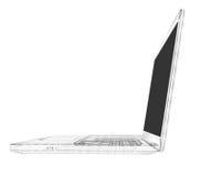 膝上型计算机 导线框架 免版税库存图片