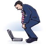 膝上型计算机经理 免版税图库摄影