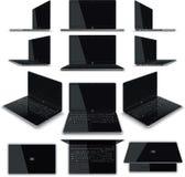 膝上型计算机12视图成套工具 库存照片