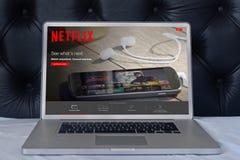 膝上型计算机Netflix 库存照片