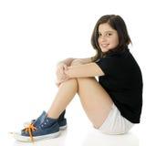 膝盖拥抱非离子活性剂 免版税库存图片