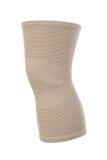 膝盖的有弹性绷带,隔绝在白色 免版税库存照片