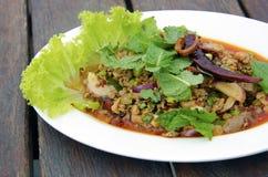膝部泰国食物 库存图片