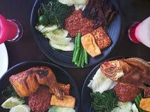 膳食和晚餐的食物 免版税库存照片