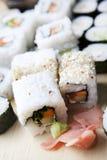 膳食寿司 免版税库存照片