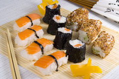 膳食寿司 免版税库存图片