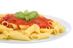 膳食意大利酱蕃茄 免版税库存图片