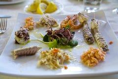 膳食海鲜 免版税图库摄影