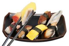 膳食盛肉盘寿司 免版税库存照片
