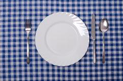 膳食设置 库存图片