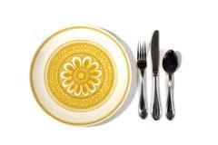 膳食餐位餐具 免版税图库摄影