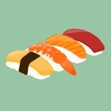 膳食nigiri系列寿司 免版税库存照片