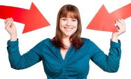 自信妇女 免版税图库摄影