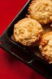 自创乳酪小圆面包 库存照片