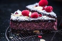 自创健康莓和chia蛋糕tarte 库存图片