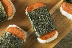 自创健康Musubi米和肉三明治 库存照片