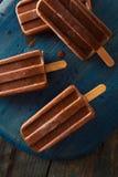 自创冷的巧克力软糖冰棍儿 免版税库存照片