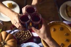 自创南瓜,感恩的苹果饼 免版税库存照片