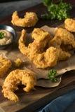自创南部的油煎的Cajun虾 库存图片