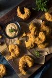 自创南部的油煎的Cajun虾 库存照片