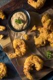 自创南部的油煎的Cajun虾 免版税库存图片