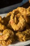 自创南部的油煎的Cajun虾 免版税库存照片