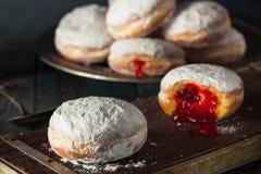 自创含糖的Paczki多福饼 库存照片