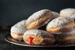 自创含糖的Paczki多福饼 库存图片