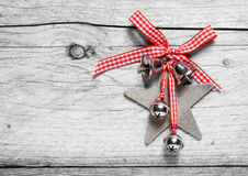 自创土气圣诞节装饰 免版税库存图片