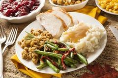自创土耳其感恩晚餐 库存照片