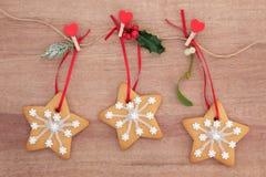 自创圣诞节曲奇饼 库存图片