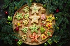 自创圣诞节的曲奇饼 免版税库存图片