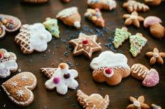自创圣诞节的曲奇饼 免版税库存照片