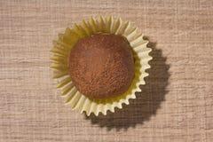 自创块菌状巧克力 糖果球平的位置设计  库存照片