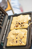 自创奶蛋烘饼 库存照片