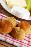 自创小圆面包的装饰 库存图片